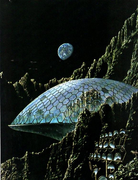 L'art et l'astronautique Erro-base-lunaire